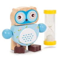Wooden Owl Toothbrush Timer