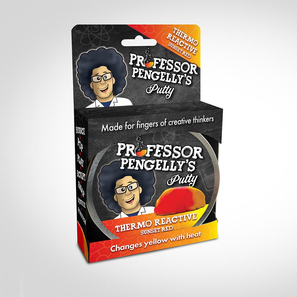 Professor Pengelly's Glow in the Dark Putty – Sunset Red to Yellow