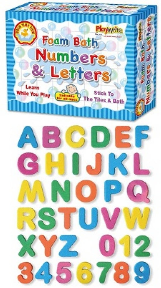 Foam Bath Numbers & Letters
