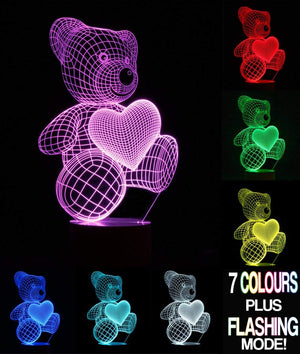 3D Optical Illusion Bear Lamp