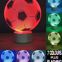 3D Football Optical Illusion Lamp