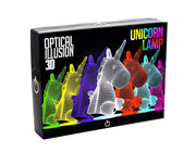 3D Sitting Unicorn Optical Illusion Lamp