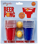 Giftworks 18 Piece Beer Pong