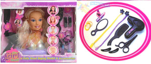 Doll's Head Styling Hairdressing Model Playset