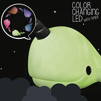 Colour Changing Narwhal Mood Night Light + 15 Minute Timer