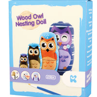 Wood Owl Nesting Doll