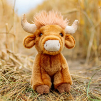 Animigos World of Nature 21cm Highland Cow