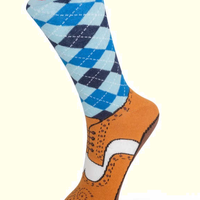 Silly Brogue Socks Size 5 - 11