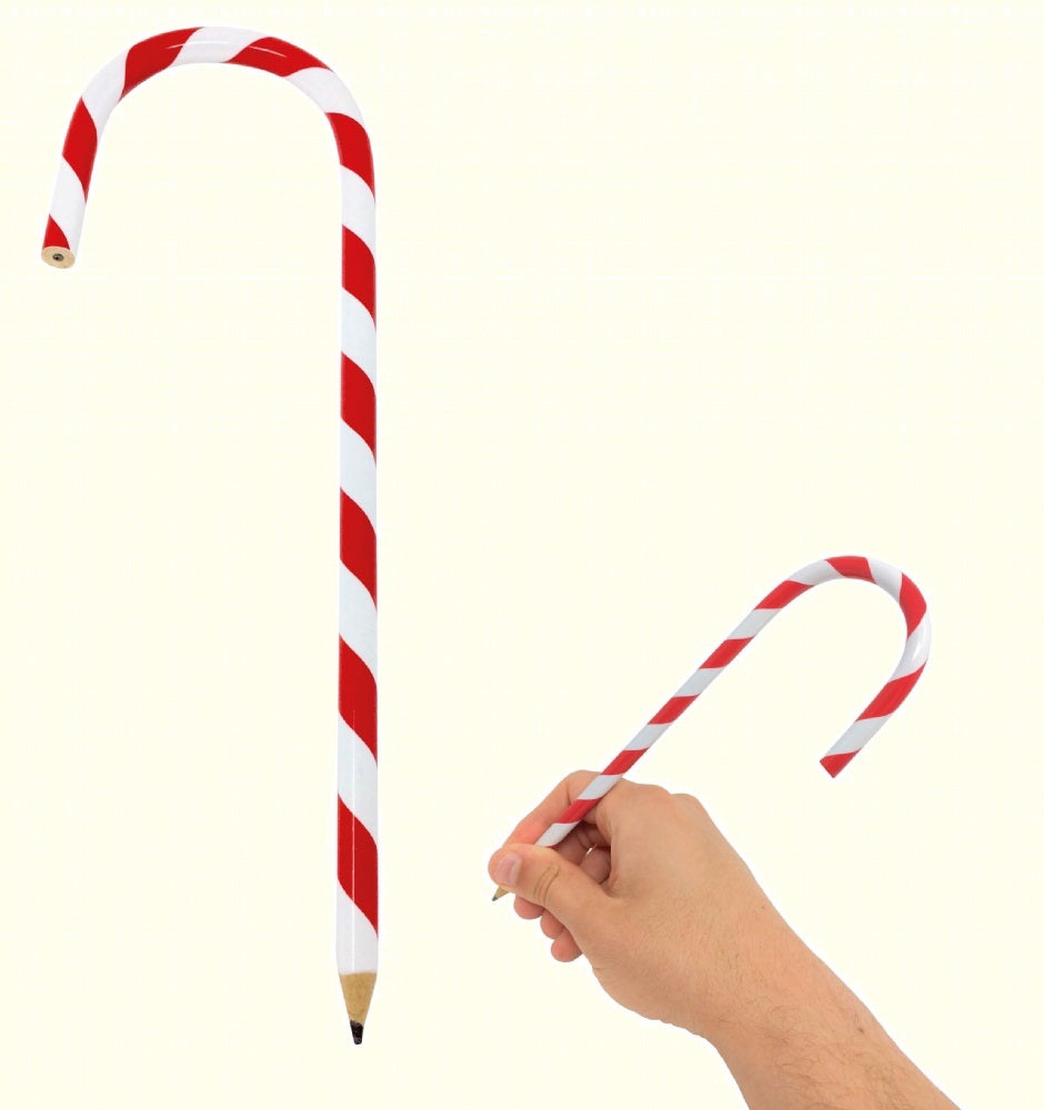Candy  Cane Red & White Pencil 20cm