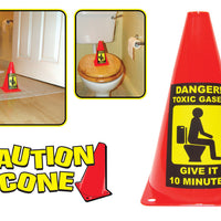 Caution Cone Toxic Gas Give It 10 Minutes