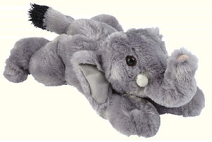 Ravensden Plush Soft Elephant Laying 28cm