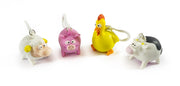 Farm Animals Squeeze Poo Keyring