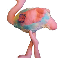 Flamingo With Rainbow Wings & Bow 60cm