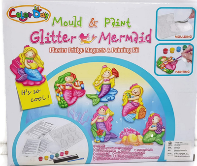 Mould And Paint Glitter Mermaid Fridge Magnets