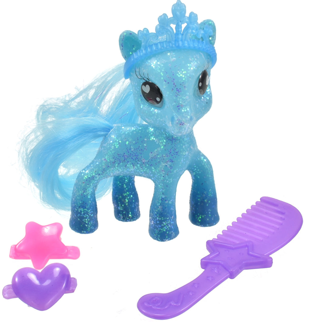 Glitter Pony Figurine and Accessories