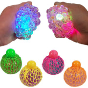 Light Up Squidgy Glitter Mesh Ball