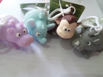 Jungle Animals Squeeze Poo Keyring