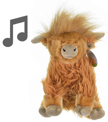 KandyToys Large Highland Cow with Sound 21cm