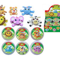 Super Dough Wildlife Pots 6 Assorted