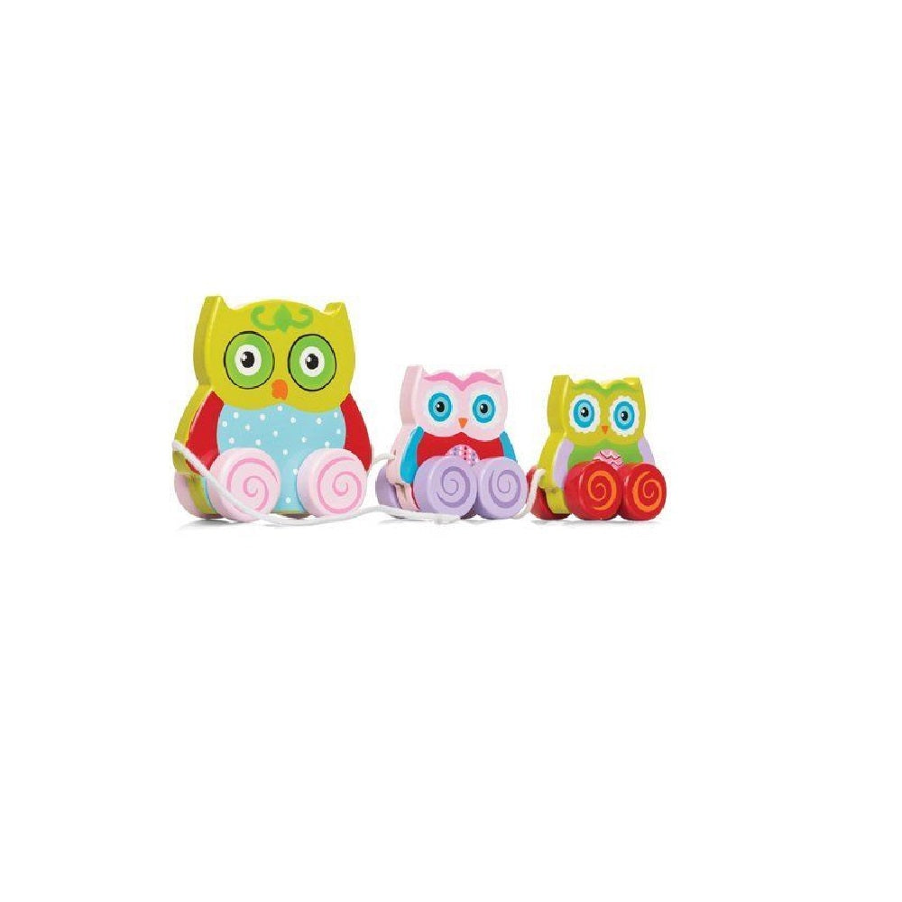 Pull Along Owl Family
