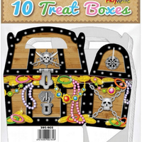 PlayWrite 10 Pirate Chest Treat Boxes 12 cm