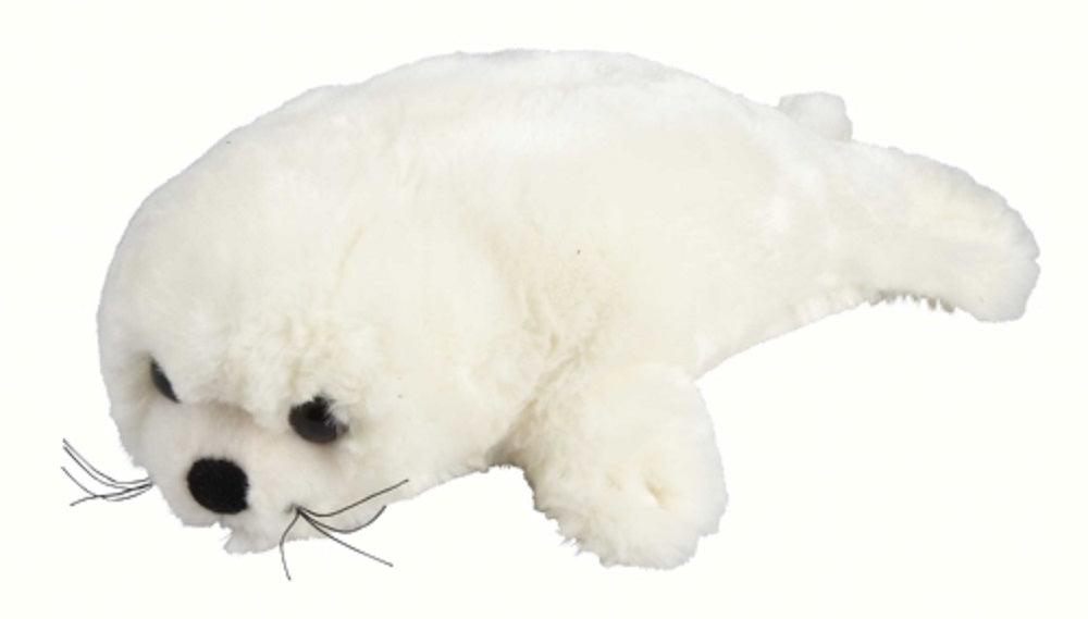 Ravensden Plush White Seal Laying 24cm