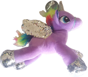 Sequin Winged Unicorn