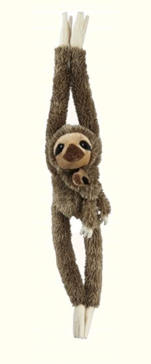 Ravensden Soft Plush Sloth Hanging with Baby 90cm