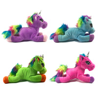 Snuggle Pals Rainbow Mane Plush Unicorn Soft Toy 35cm