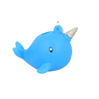 Squeezy Narwhal Keyring