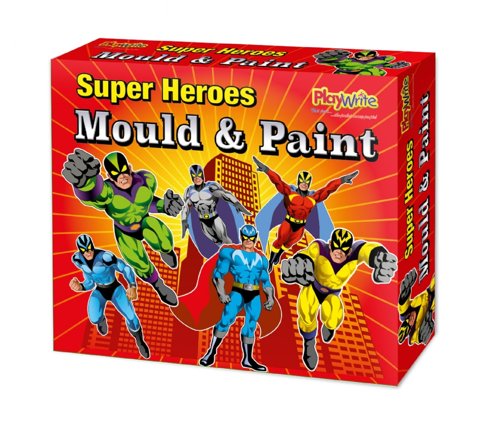 Super Hero Mould & Paint Fridge Magnets