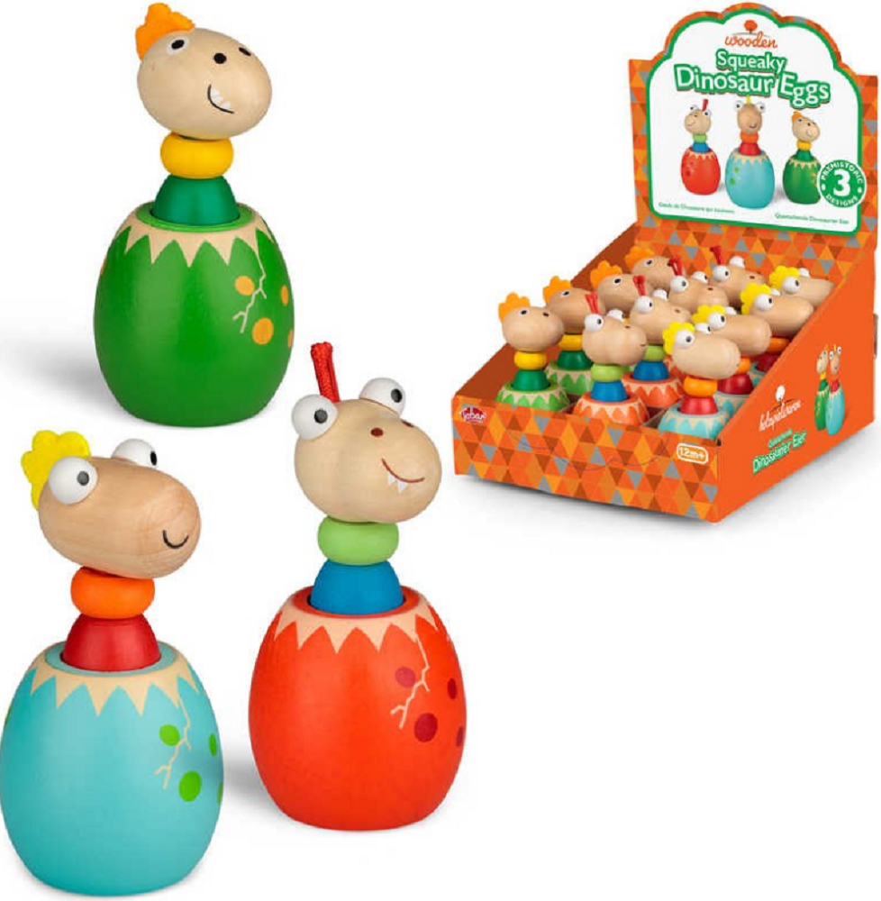 Tobar Wooden Squeaky Dinosaur Eggs