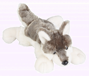 Ravensden Soft Plush Wolf Laying 27cm