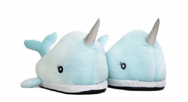 Adult Narwhal LED Light Up Slippers