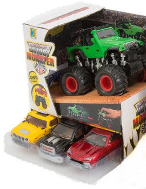 Big Foot Monster Truck With 4 Truck Shells