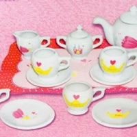 Daisie May Tea Set With Metal Tray