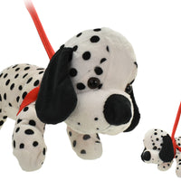 Plush Dalmation Dog On Lead