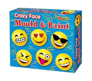 Funny Face Mould and Paint Fridge Magnets Set