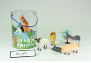 12 Piece Farm Animals Large Tub