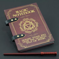 Magic Spell Wand and Notebook