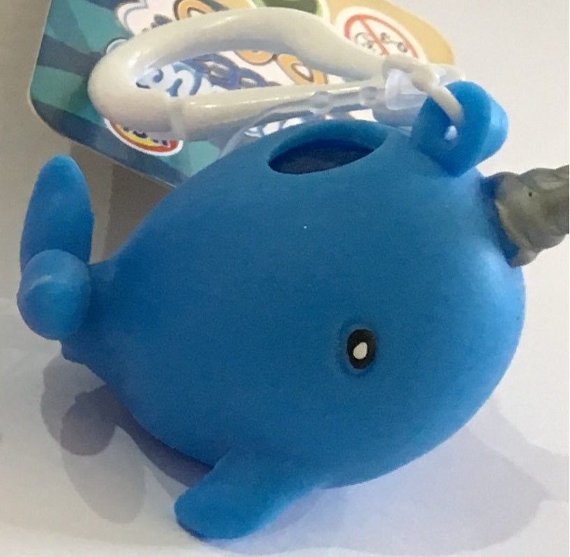 Narwhal Squeeze Poo Keyring
