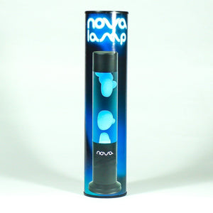 Nova Lava Lamp Clear Liquid Blue Wax