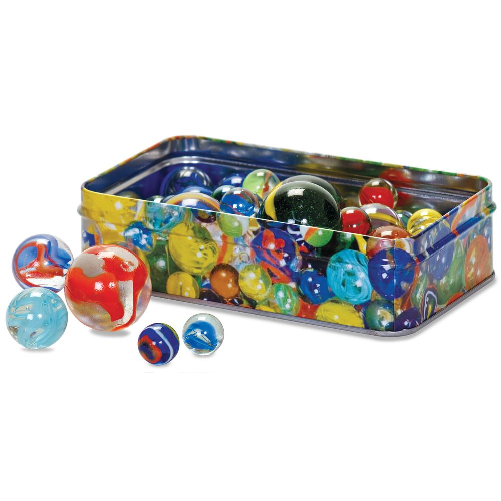 Tin of 60 Marbles
