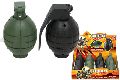 Combat Mission Toy Hand Grenade With Light and Sound