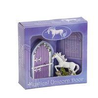 Mystical Unicorn Door With Unicorn Figurine