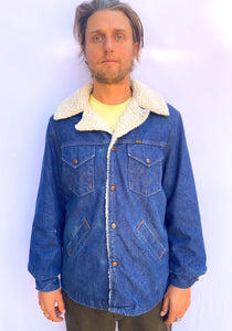 70s' Maverick Denim Sherpa Jacket