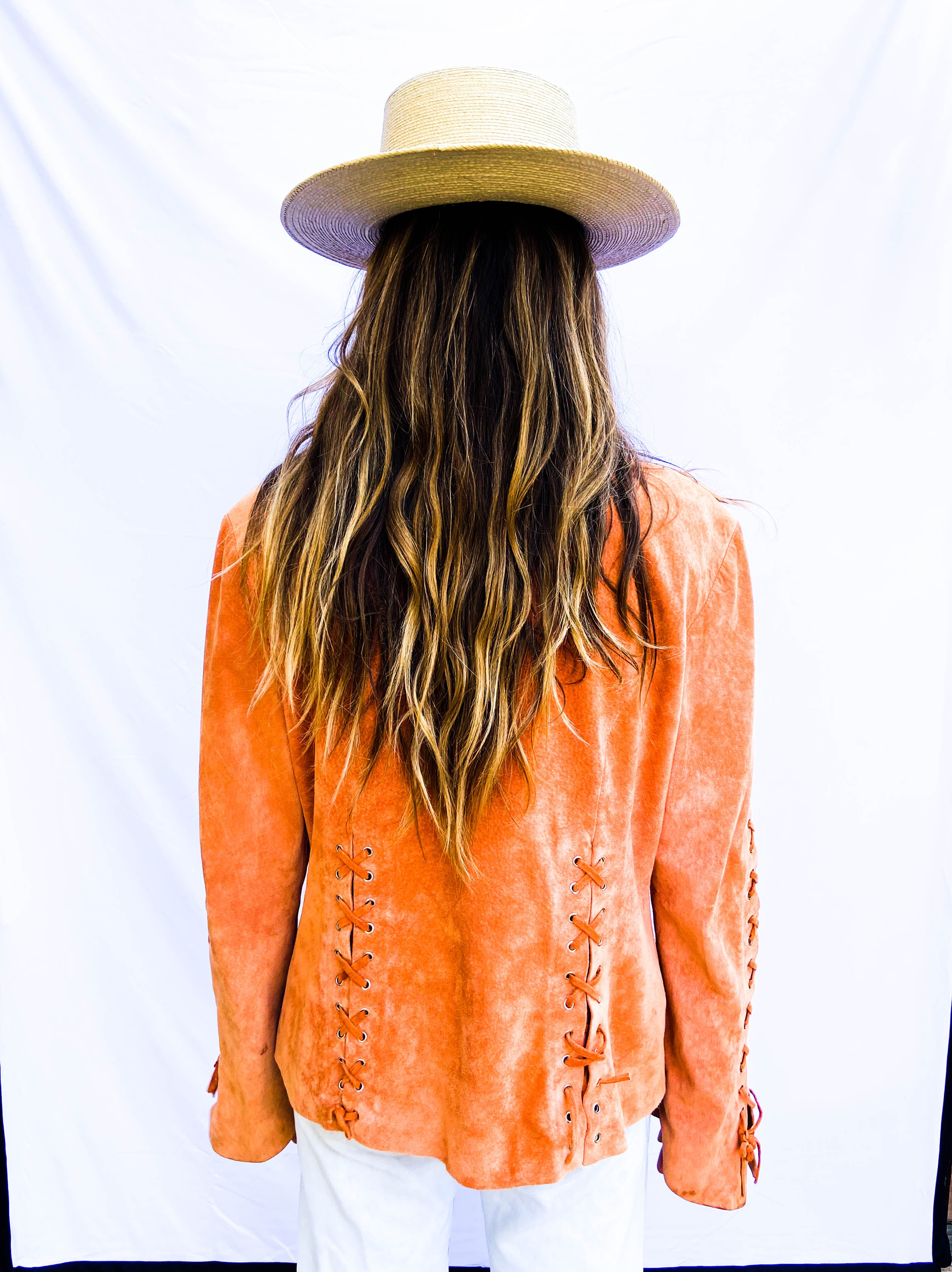 90s Orange Suede Jacket