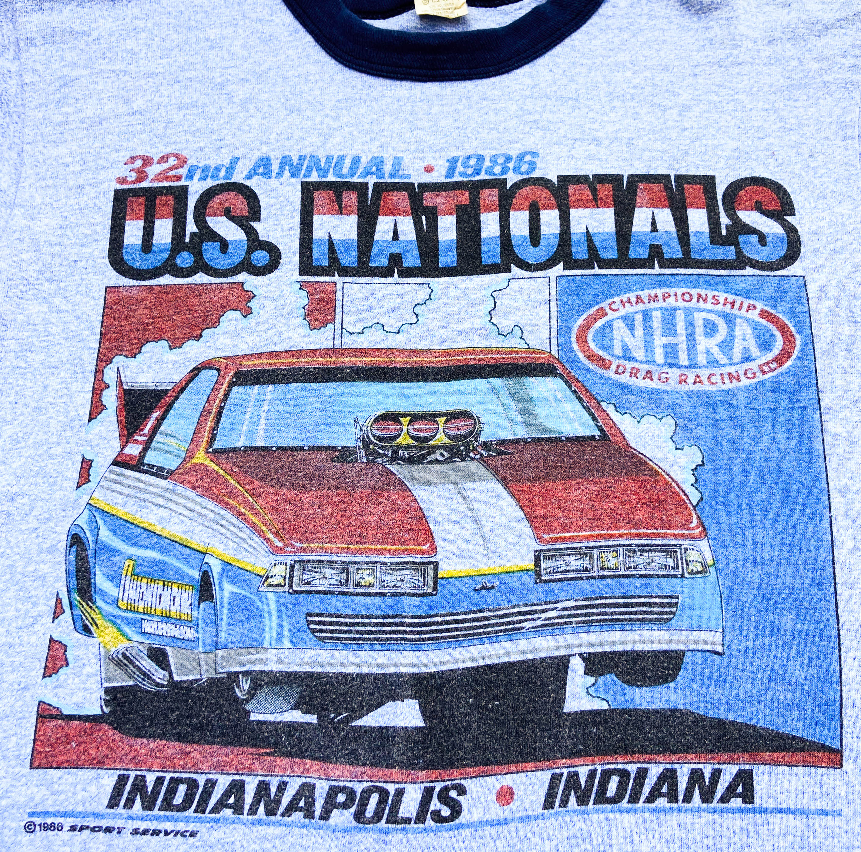 1986 U.S. Nationals Racing Ringer Tee