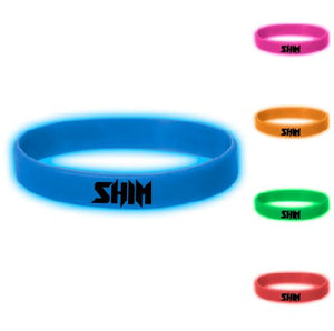 Glow In The Dark Silicone Wristband 5 Pack Special!
