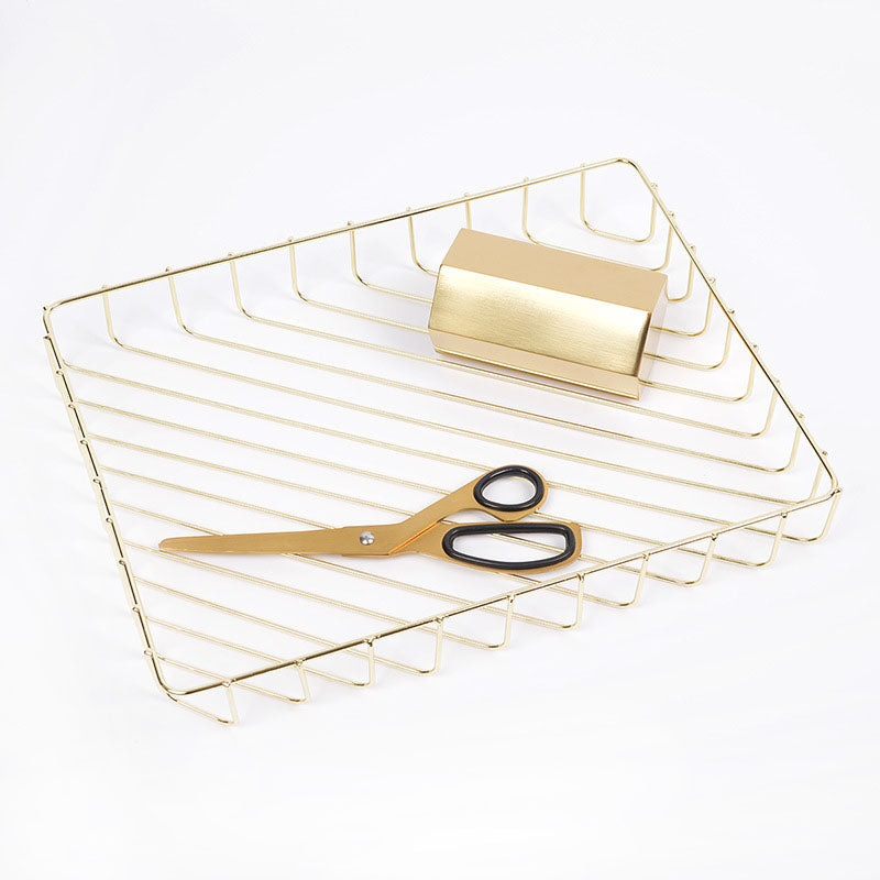 Gold A4 Metal Tray Organizer